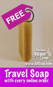 Free Travel Soap Abundant Hope Soap